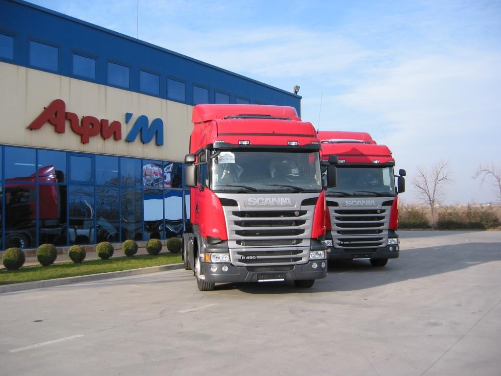 Агри-М достави 2 влекача Scania Евро-6 на Томекс Транс ЕООД
