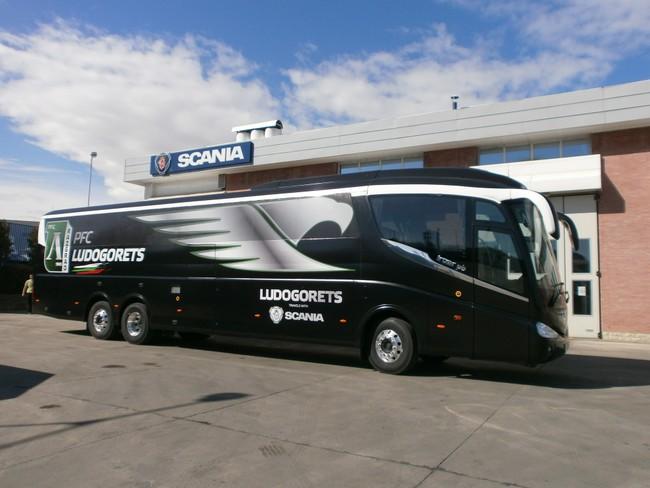 Уникален Scania Irizar PB за Лудогорец
