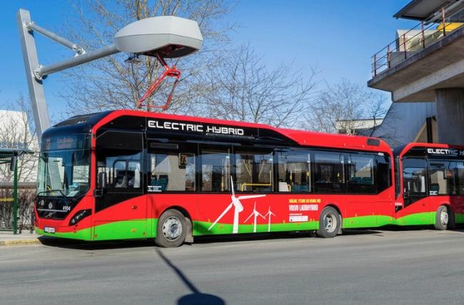 Осем електробуса Volvo 7900 Hybrid Electric за градския транспорт в Стокхолм