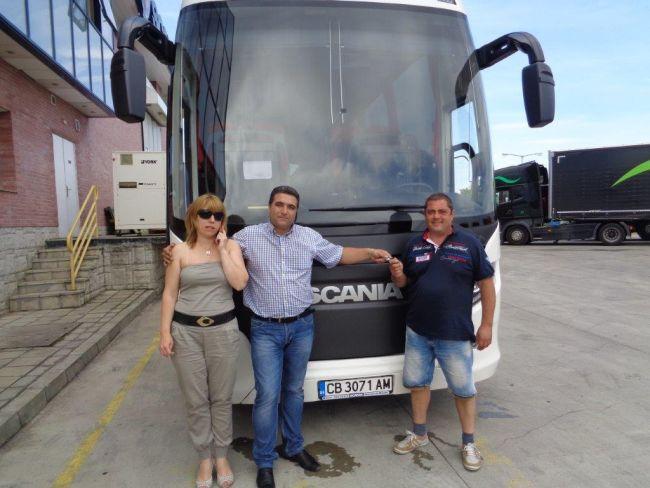 Скания България достави Scania Touring за Стойчев и син