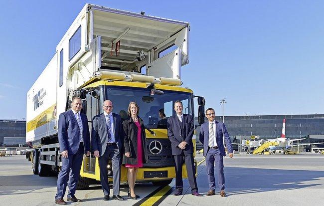 Първият Econic Евро-6 на природен газ е за летището във Виена