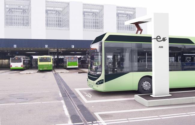 АББ представя бързозареждащ робот за автобуси на обществения транспорт