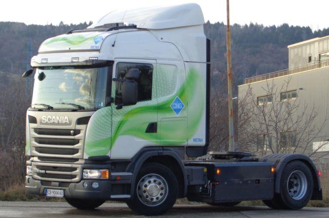 Scania на метан могат да тестват клиенти в България