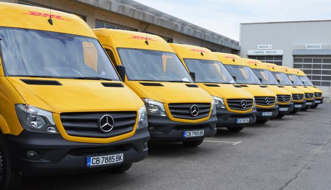 DHL Express ще доставя пратки с осем нови Mercedes-Benz Sprinter
