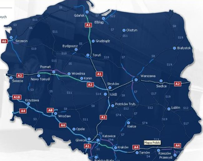На вниманието на пътуващите през Полша