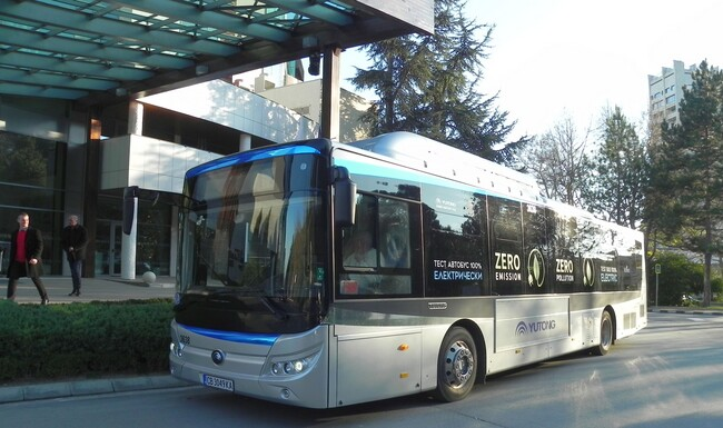 Първа доставка на електрически автобус в България
