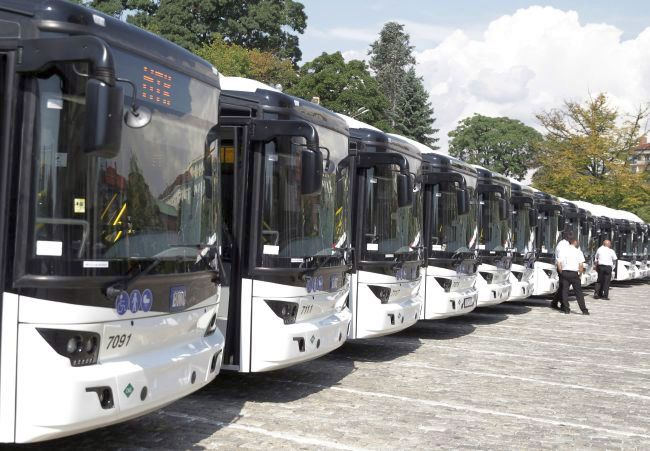 231 нови автобуса от категория М3 са регистрирани в България през 2017 г.