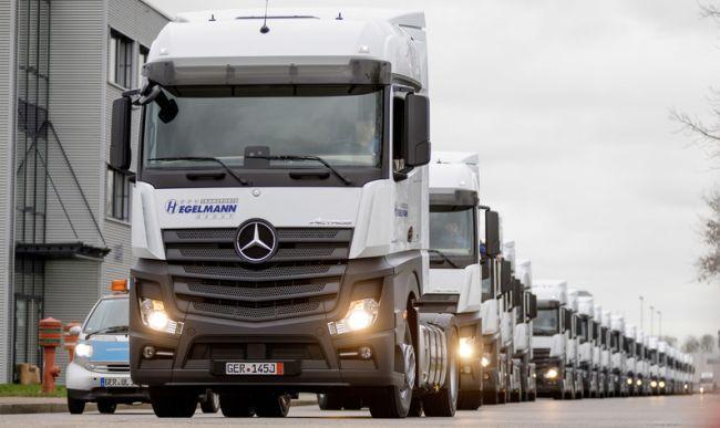 Поръчката от 1000 Mercedes-Benz Actros за Hegelmann е изпълнена