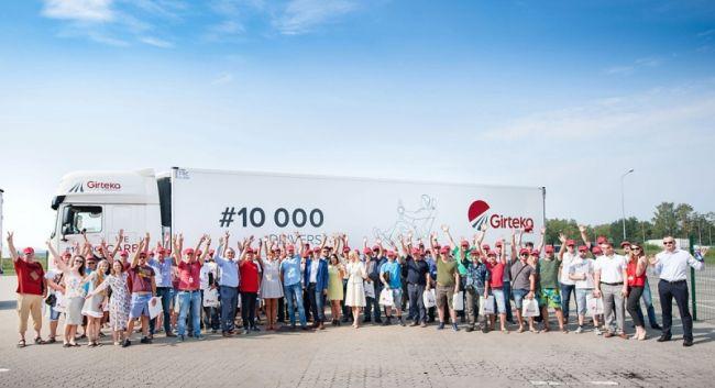 Girteka Logistics има вече 10 000 шофьори