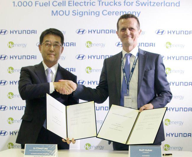1000 камиона Hyundai на водород за Швейцария