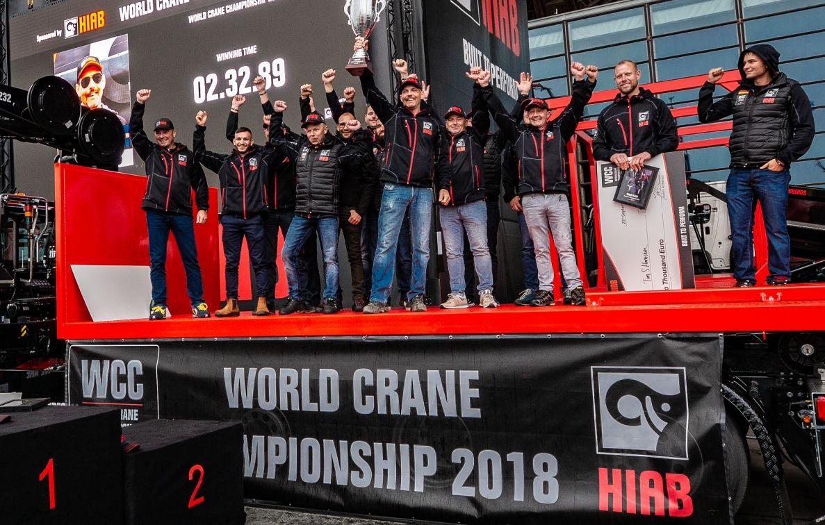 Шампионът кранист на Hiab за 2018 г. е Андреас Охман от Швеция