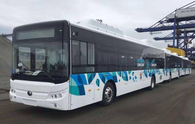 20-те електробуса Yutong ZK6128 са вече у нас