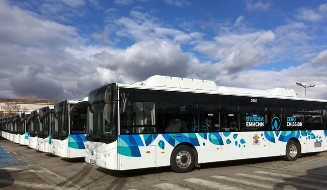 Двайсетте електрически автобуса Yutong E 12LF тръгнаха в София