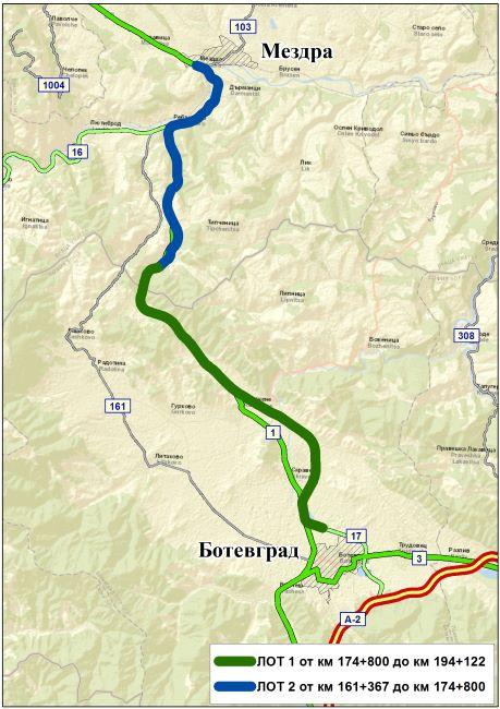 Зелена светлина за скоростния път Мездра-Ботевград
