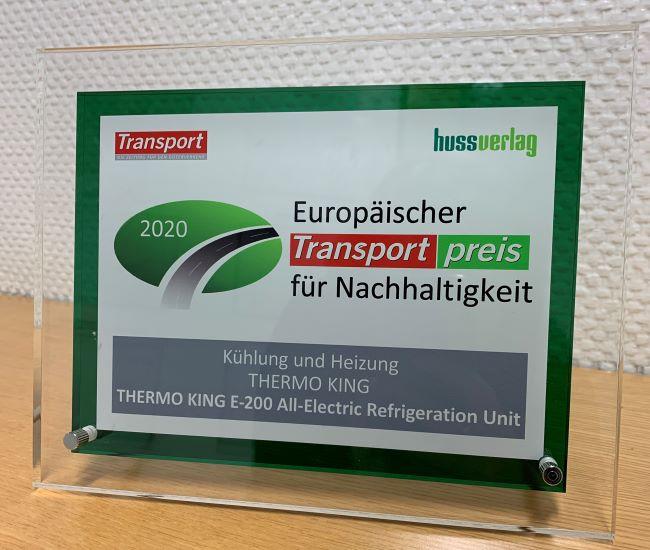 Thermo King с престижна европейска награда за E-200