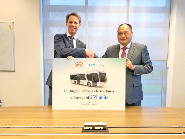 BYD с най-голямата поръчка за електрически автобуси в Европа
