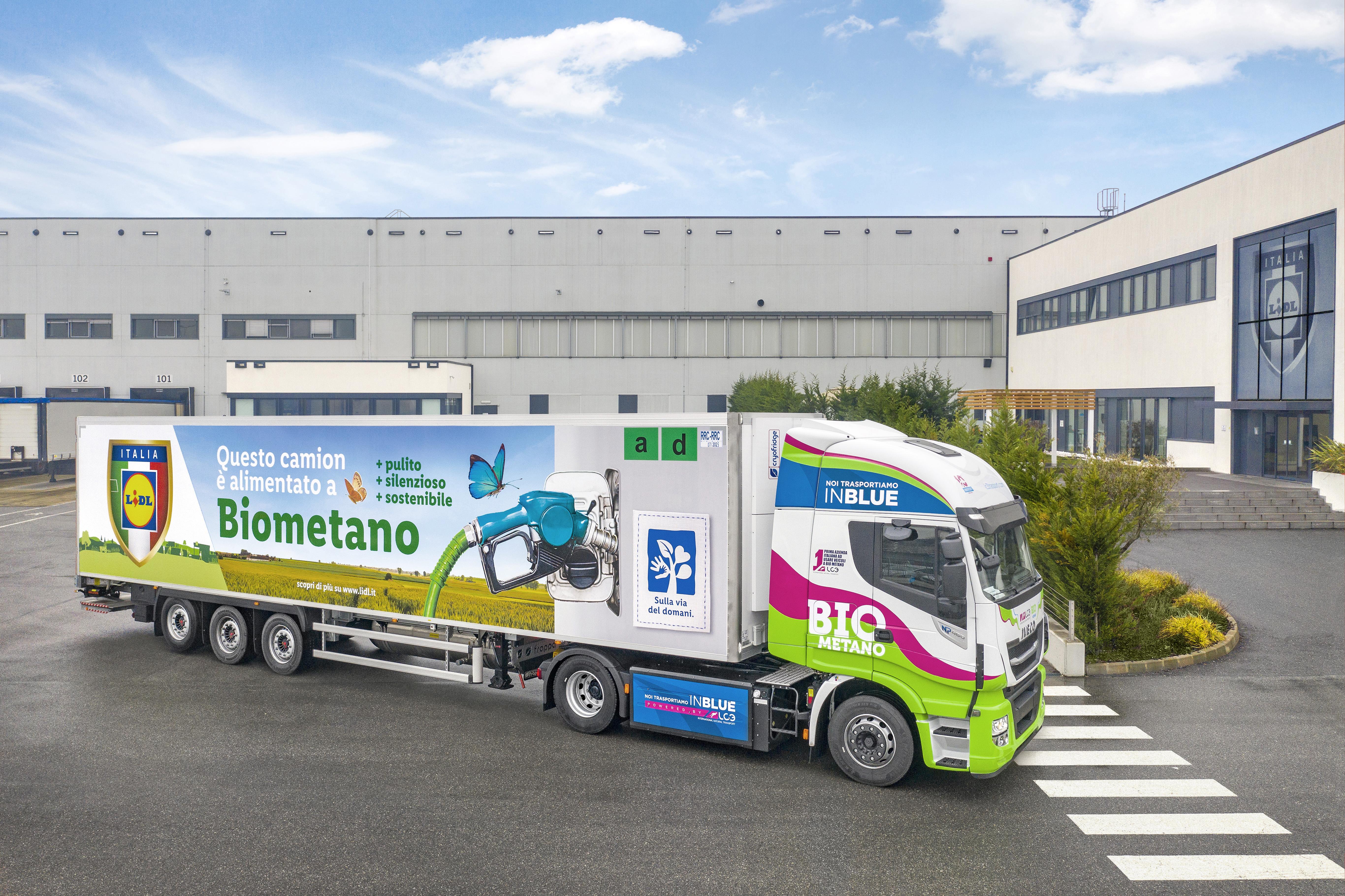 Lidl, IVECO, LC3 и Edison въвеждат първите камиони на биометан в Италия
