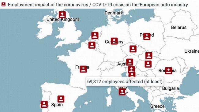 COVID-19 засегна 1,1 млн. работници в европейското автомобилостроене