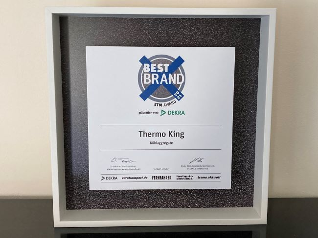 Thermo King спечели 17-та поредна ETM Awards Best Brand