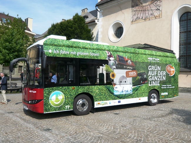 Електрически Solaris Urbino 8,9 LE за Клагенфурт