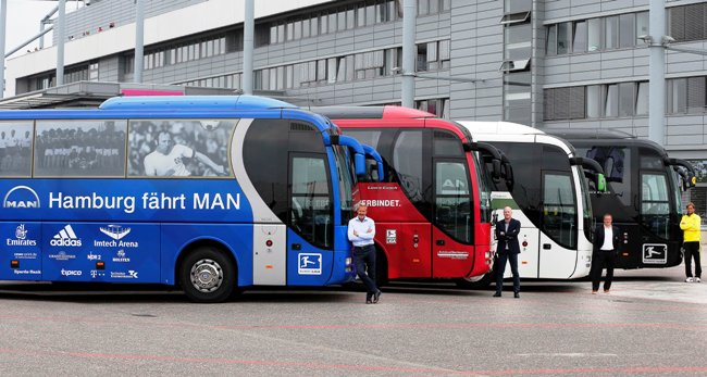 13 отбора в Бундеслигата с автобуси MAN или Neoplan